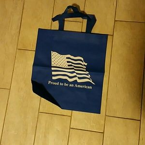 Patriotic  Blue and White Tote Bag